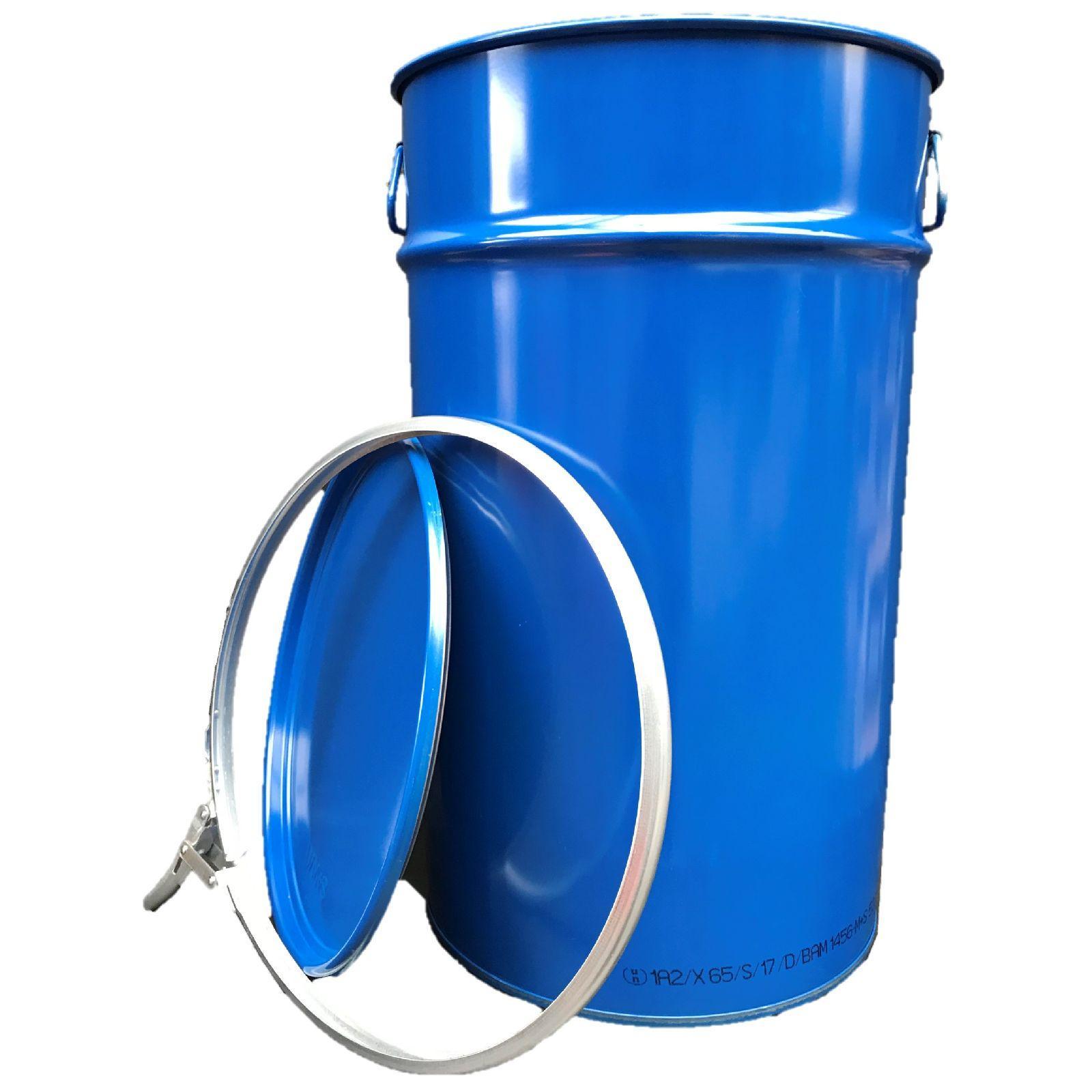 60 liter hobbock deckelfass stahlfass fass m lleimer eimer neu blau ebay. Black Bedroom Furniture Sets. Home Design Ideas